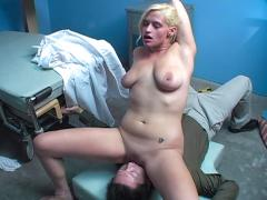 Hot babe get fucked hard by her plumber's pipe in this video