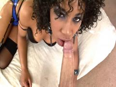 Watch this ebony beauty suck cock in this POV action scene !