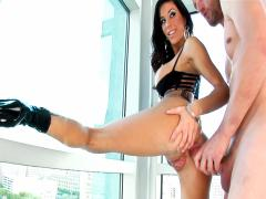 POV Action! Cute Girl Opens Her Legs & Mouth Wide For Rocco