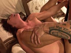 Brunette MILF seduces daughter's boyfriend in hotel room !