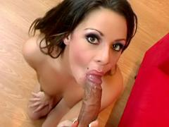 Wonderful bitch moans as she loves sucking this hard penis