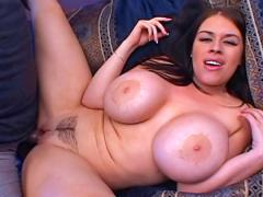 Hoe With HUGE Tits Gets Her Ass Drilled And Pussy Creamed