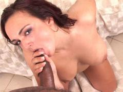 Horny Mom Enjoys Sucking A Big Black Cock & Getting Facial