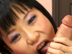 Exotic goddess deep throating Peter North's big cock here!
