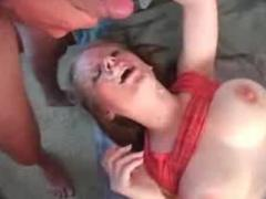 Big tit blonde loves to blow big tits natural blonde face fuck big dick deepthroat facial cumshot bl
